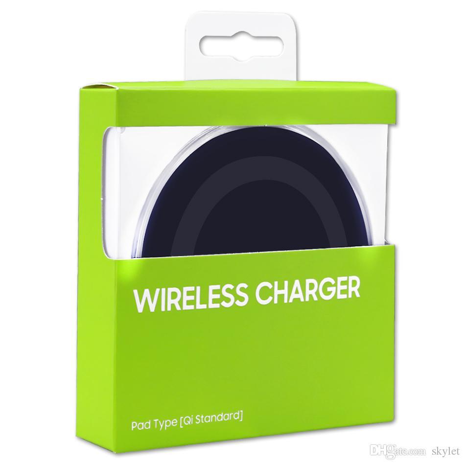 Для Iphone X Универсальное Ци Беспроводное Зарядное Устройство Для Samsung S6 Note 8 Galaxy S7 Edge Мобильная Зарядка Коврик С USB-Кабелем С Коробкой