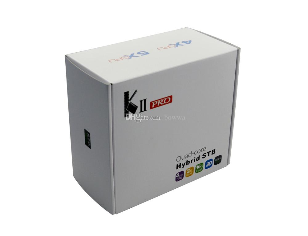 KII Pro Android TV Box 2GB 16GB DVB-S2 DVB-T2 Streaming Box Amlogic S905D Quad-core Bluetooth 4.0 Smart Media Player