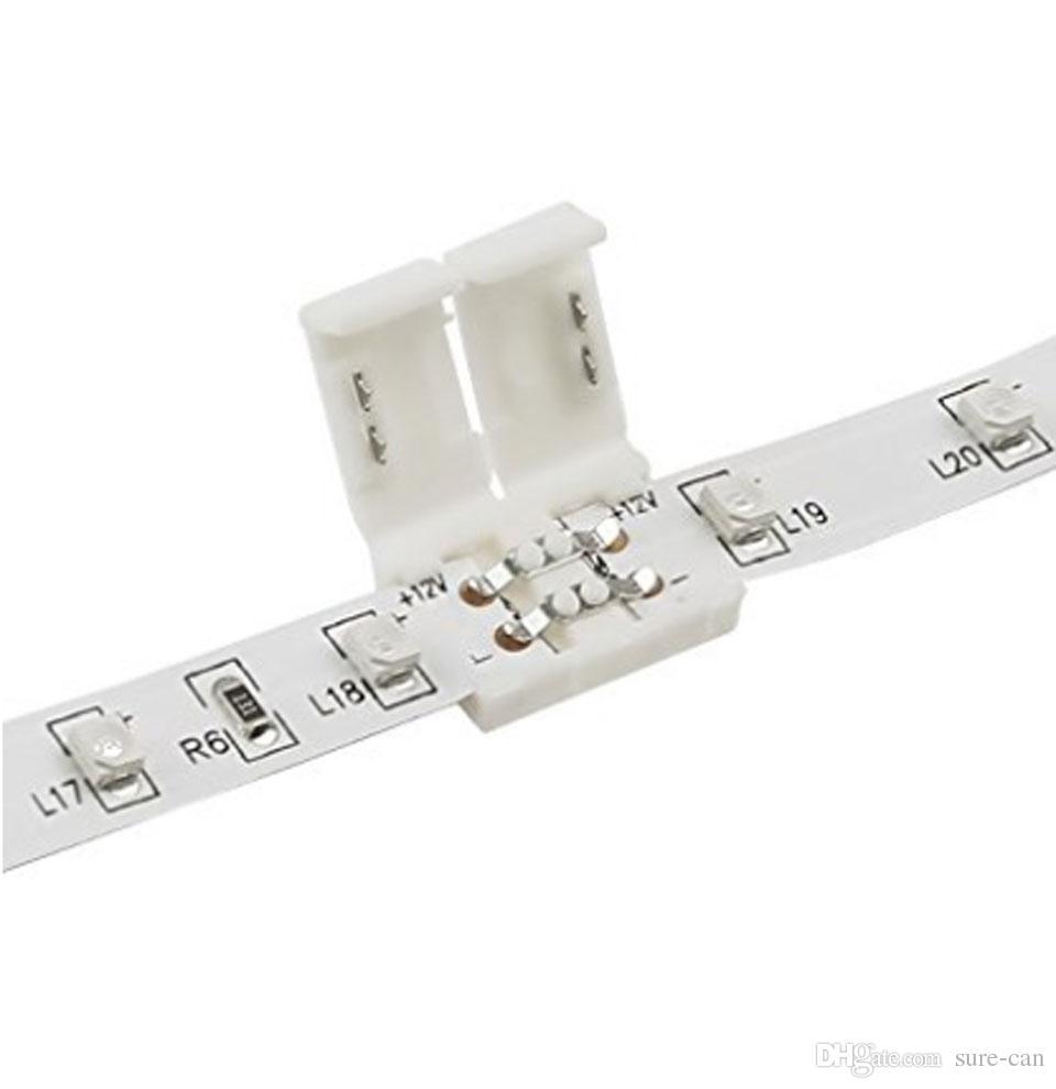 어댑터 케이블 + / 2835 단일 색상 LED 스트립 조명, 스트립 연장선에 Gapless 스트립에 대 한 2 핀 8mm 커넥터 키트