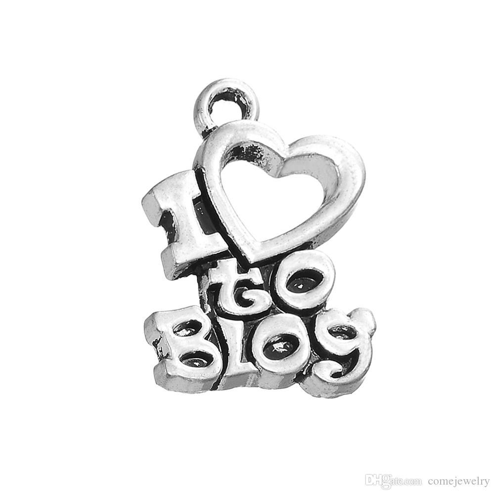 16ec31d79a4 Compre Acessório De Moda Charme Antigo Banhado A Prata Eu Adoro Blog Charme  Carta Para Jóias Diy De Comejewelry