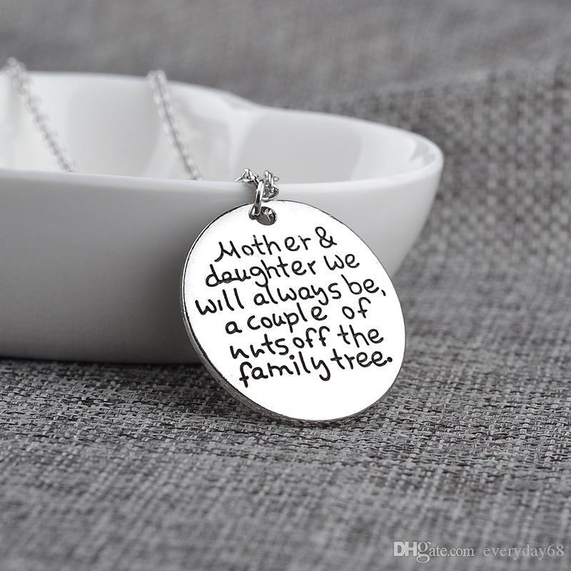 """2017 Personalised Mother Daughter Necklace""""Mother and daughter we will always be Mother and daughter New Arrive new arrive"""