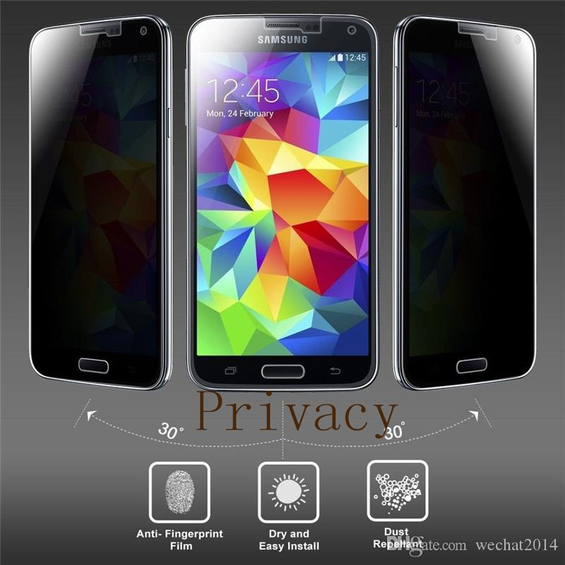 9H 0.3mm Tempered Glass Privacy Screen Protector Anti-Spy for Samsung Galaxy S3 i9300 S4 i9500 S5 i9600 S6 G9200 S7 S5 mini i8190 i9190