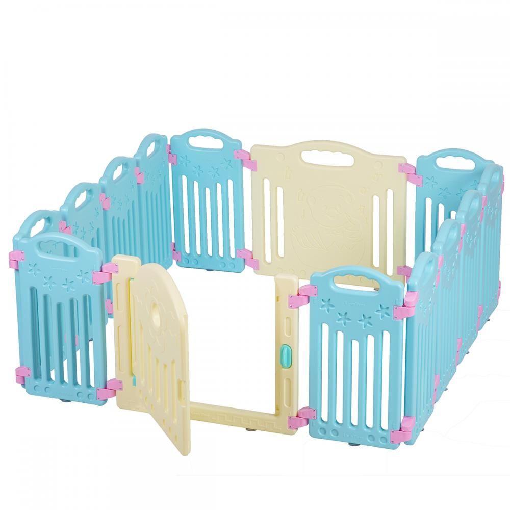 14 Panel Baby Playpen Kids Safety Play Center Yard Home Indoor ...