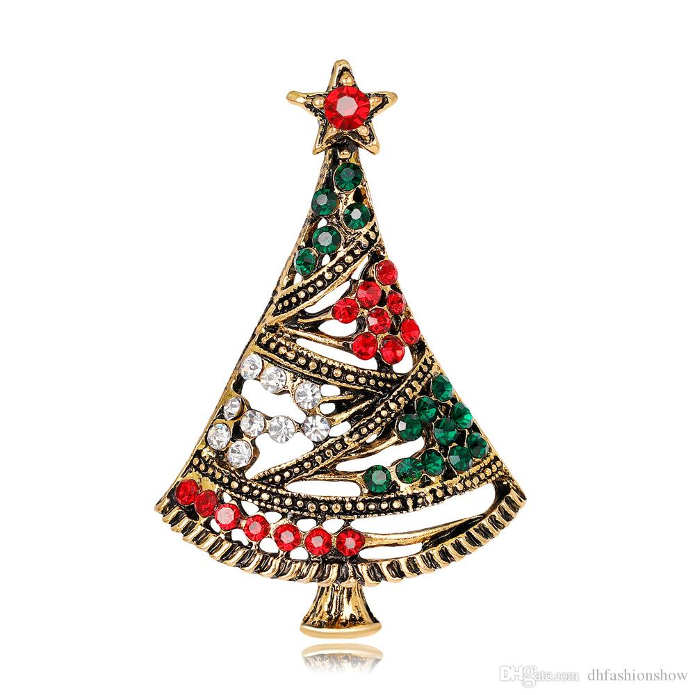 2019 2017 New Fashion Christmas Tree Brooch Colorful Crystal Rhinestones  Brooches For Women Vintage Brooch Pins Boy Girl S Gift From Dhfashionshow 271da3b7b7b6