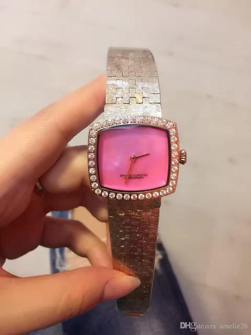13783822fda Compre Nuevo Reloj De Lujo De Acero Inoxidable Moda Rosa Reloj De Oro Mujer  Reloj De Cuarzo Señora Relogio Feminino Relojes De Pulsera Para Mujer A   70.36 ...