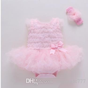Baby kids princess Ha dress Newborn bows Flower sashes TUTU dress toddler kids lace up tulle Ball Gown fit 0-1years girls clothing
