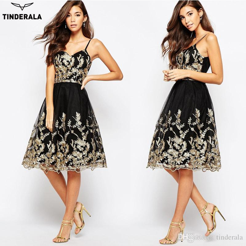 Wonderful Dinner Party Dress Part - 4: 2017 Tinderala 2017 New Women Party Dress Casual Elegant Ladies Lace  Embroidery Sexy Spaghetti Strap Dresses Dinner Gothic Formal Dress From  Tinderala, ...