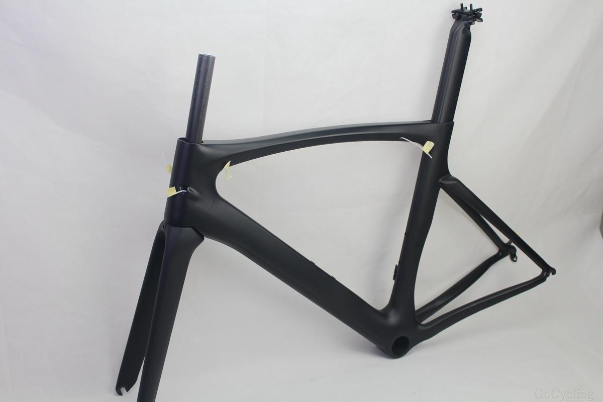 الكربون إطارات الدراجة الطريق الأسود مات سباق الدراجات دراجة الإطار إطارات لا الشارات أجزاء الدراجة