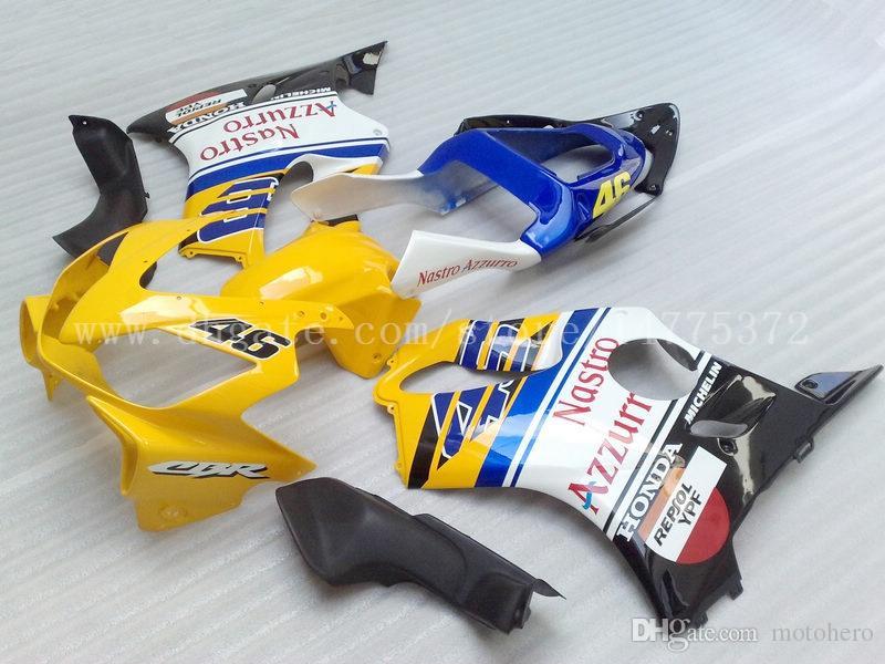 CBR F4 Yellow white fairings for HONDA CBR600F4i 01 02 03 CBR600 F4i 01-03 2001 2002 2003 fairing kit #d72y3
