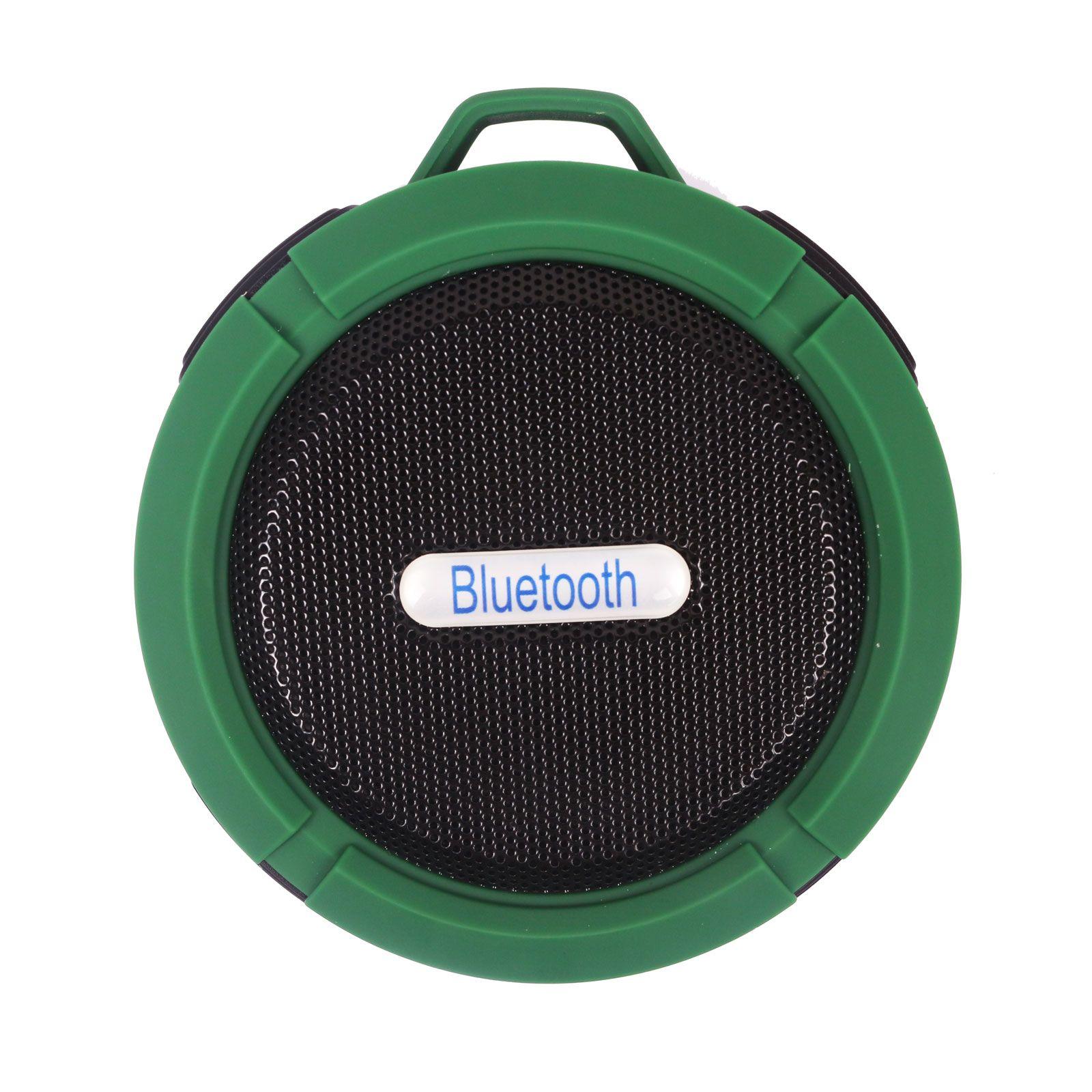100 unids C6 Altavoz Bluetooth Ventosa Portátil Estéreo Moda Inalámbrico Impermeable Gancho para arriba Manos Libres Mini Altavoz de Audio con Micrófono