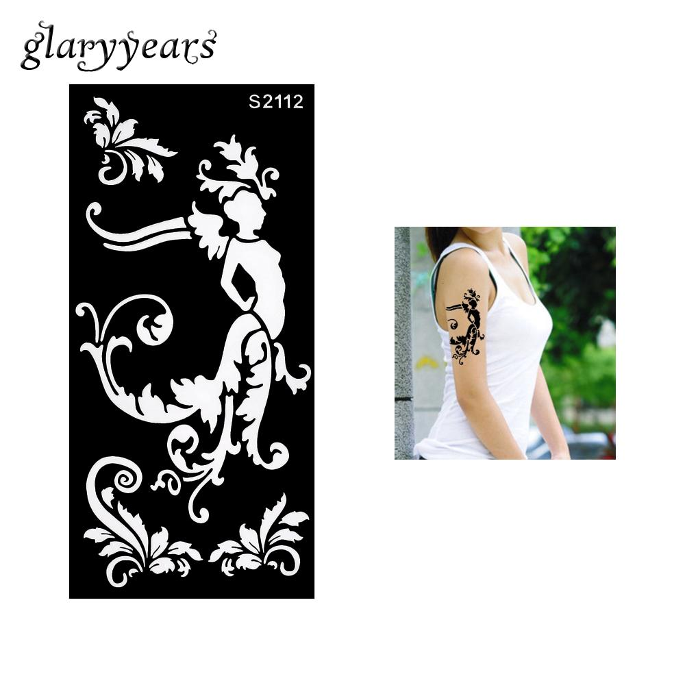 Wholesale Hollow Henna Tattoo Stencil Henna Paste Colored Drawing ...