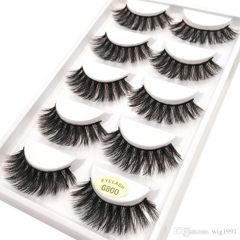 False Eyelash 5 Pairs 3D Natural Long Fake Eyelashes G800 Handmade Makeup Tools Accessories Hot