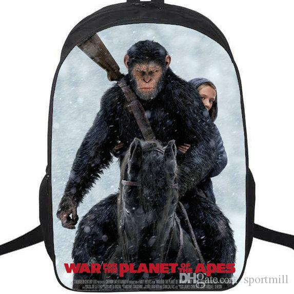War for the Planet of the Apes Backpack New School Bag Film Daypack Movie Schoolbag  Outdoor Rucksack Sport Day Pack Apes Backpack Apes Rucksack Apes Day ... e5d7dd65c5