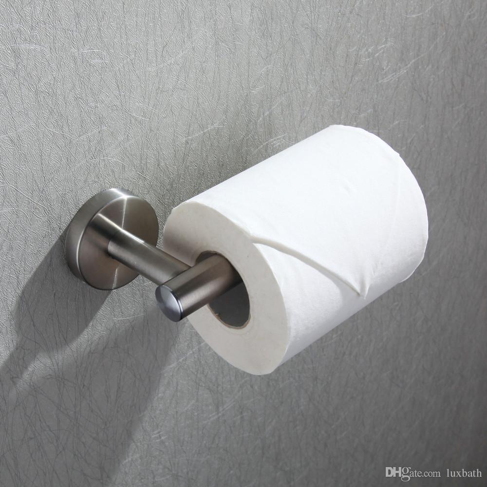 Rolya Wholesale Luxurious SUS 304 Stainless Steel Nickel Brushed Toilet Paper Holder
