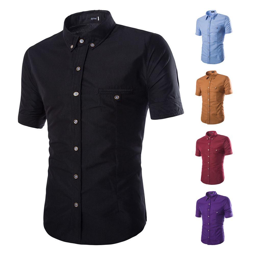 2017 2017 Summer New Fashion Brand Clothing Men'S Shirt Short ...