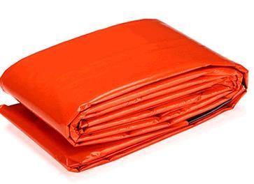 Repeated use Tearing resistance Outdoor emergency first aid sleeping bags Radiation protection adiabatic lifesaving sleeping bag PE orange