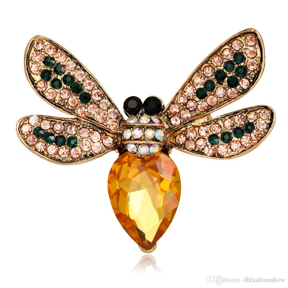 fe1e4de45 2019 Vintage Jewelry Insects Brooches Big Rhinestone Cprsage Crystal Bouquet  Antique Fleur De Lis Animal Bees Brooch Pins Up Bijoux From Dhfashionshow,  ...