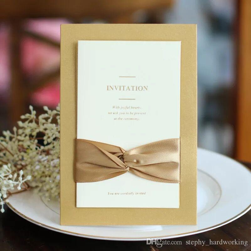 2017 classic bow ribbon wedding invitations blank inner sheet 2017 classic bow ribbon wedding invitations blank inner sheet wedding invitation flowers wedding cards with envelopes custom personalized wedding invitation stopboris