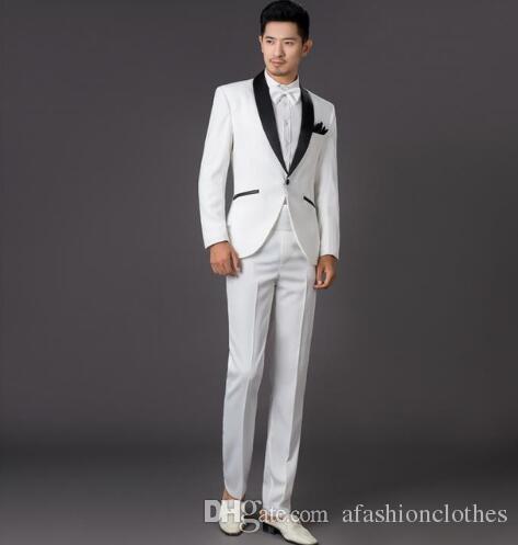 compre blanco para hombre traje vestido de novia 2017 nuevos hombres