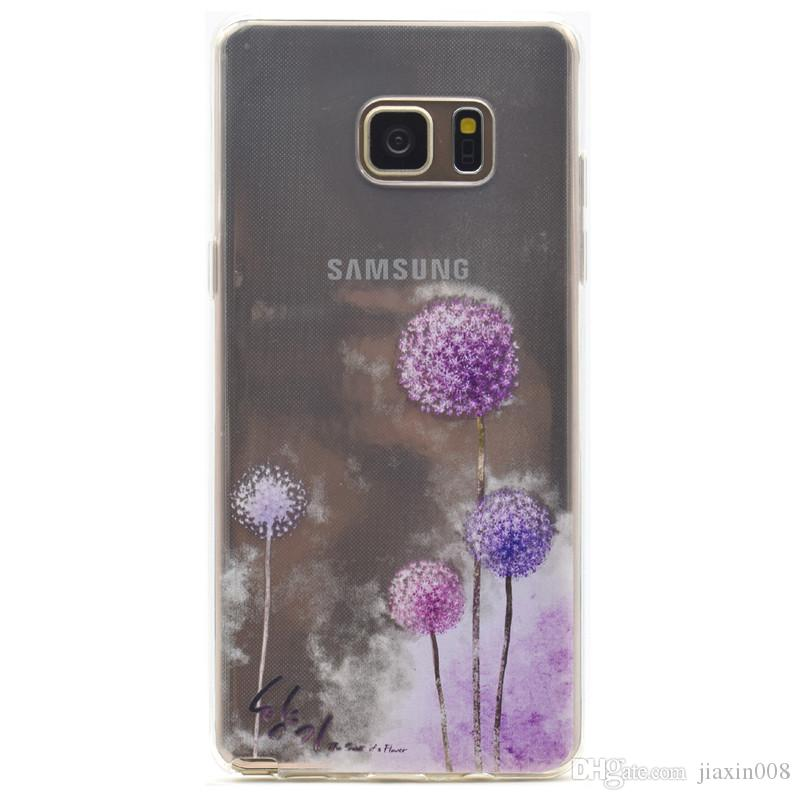 57865296a8 Transparent TPU Cover For Samsung Galaxy Note 5 Case Fashion Tower Bike  Butterfly Girl Feather Design Mobile Phone Cases Western Cell Phone Cases  Cases For ...