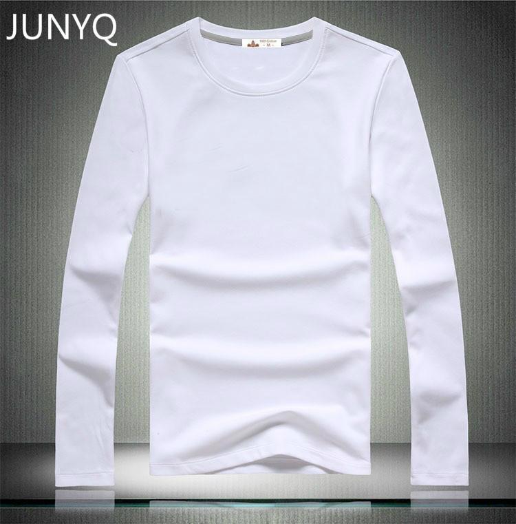 e9f57b99a Compre Atacado Frete Grátis 2016 Roupas De Marca Em Branco T Shirts De  Manga Comprida Casual T Shirt 100% Algodão Homens T Shirts De Apparelone