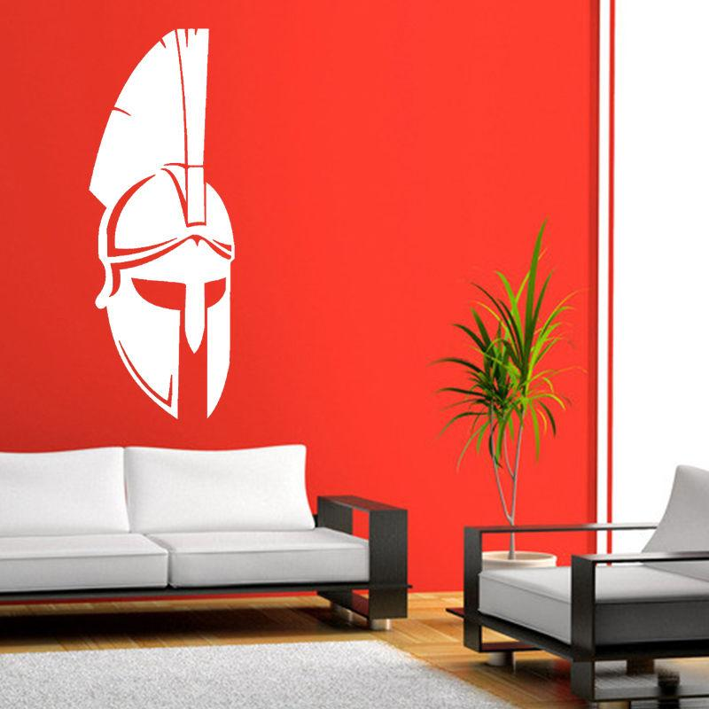 spartan helmets wall art sticker vinyl wall decal bedroom or living