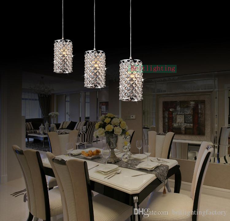 Dining Room Pendant Lighting Kichler Modern Linear Multi Light String Lamp Led Crystal Restaurant Coffee Shop Hanging Lights