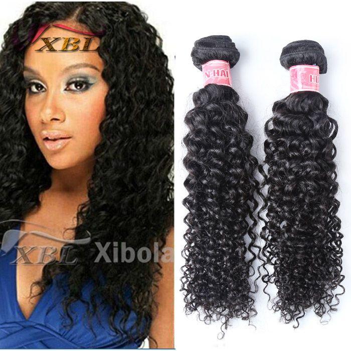 Xblhair Curly Human Hair Extension Virgin Kinky Curly Weave