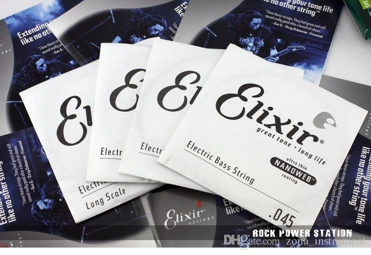 Elixir 14077 سلاسل باس 4 سلسلة الكهربائية باس الغيتار 045-105 أجزاء الآلات الموسيقية الغيتار الملحقات 1 مجموعة