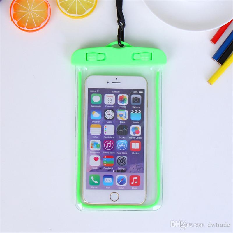 2017 Prezzo di fabbrica di vendita calda universale subacquea impermeabile borsa telefono cellulare sacchetto asciutto impermeabile del telefono