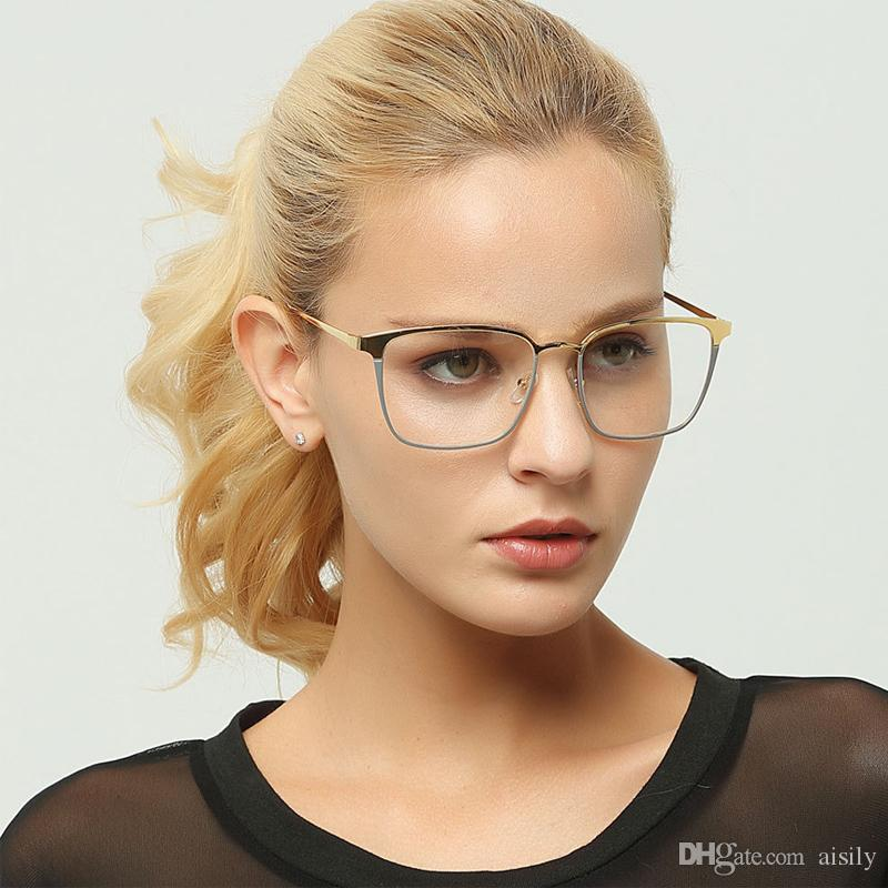 b74f5554e 2019 Fashion Square Optical Glasses Frame Women Men Clear EyeGlasses Frame  Prescription Eyewear Lunette UV400 L46 From Aisily, $10.73 | DHgate.Com