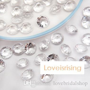 Pick--10mm 4 Carat Clear White Diamond Confetti Faux Acrylic Bead Table Scatter Wedding Favors Party Decor