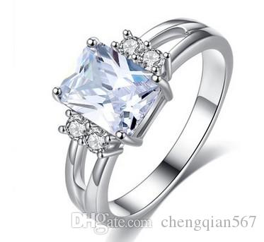 Low Price Best Product Silver Natural Crystal Diamond Lady S Ring