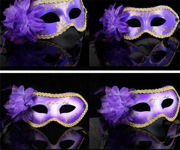 Kızlar için güzel masquerade maskeleri kadınlar parti içinde bir çiçek ile parti maskeleri masquerade parti maskeleri D154