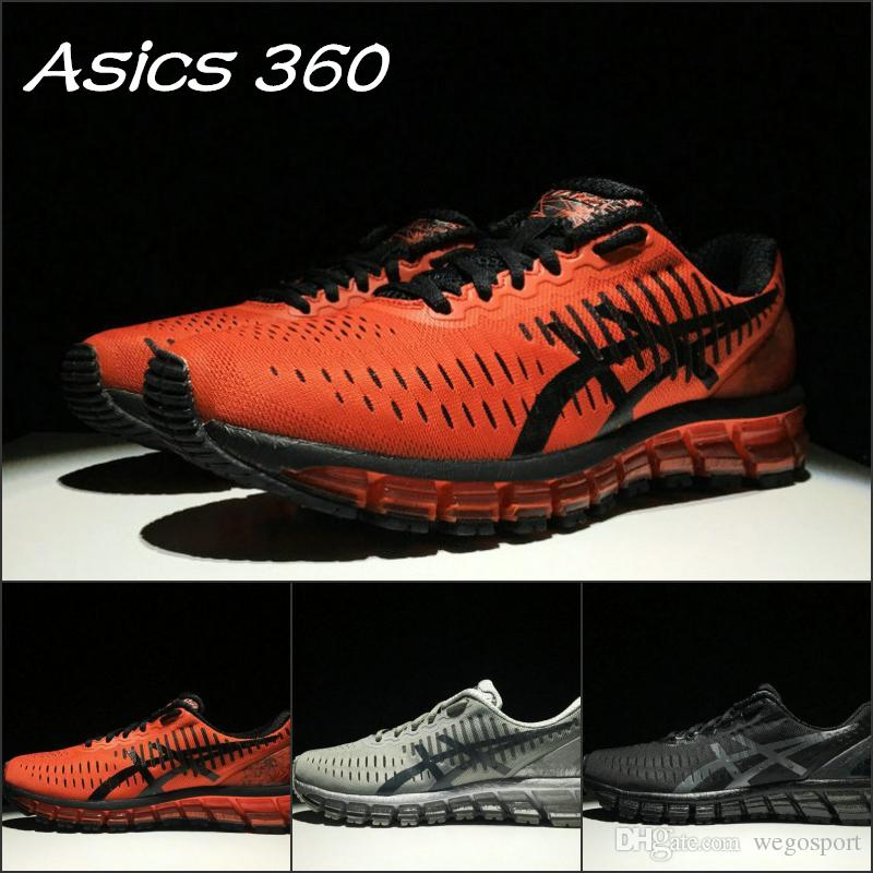 the latest 652f1 f5ff9 ... netherlands 2019 asics 360 men women running shoes gel quantum 360  black red grey top quality