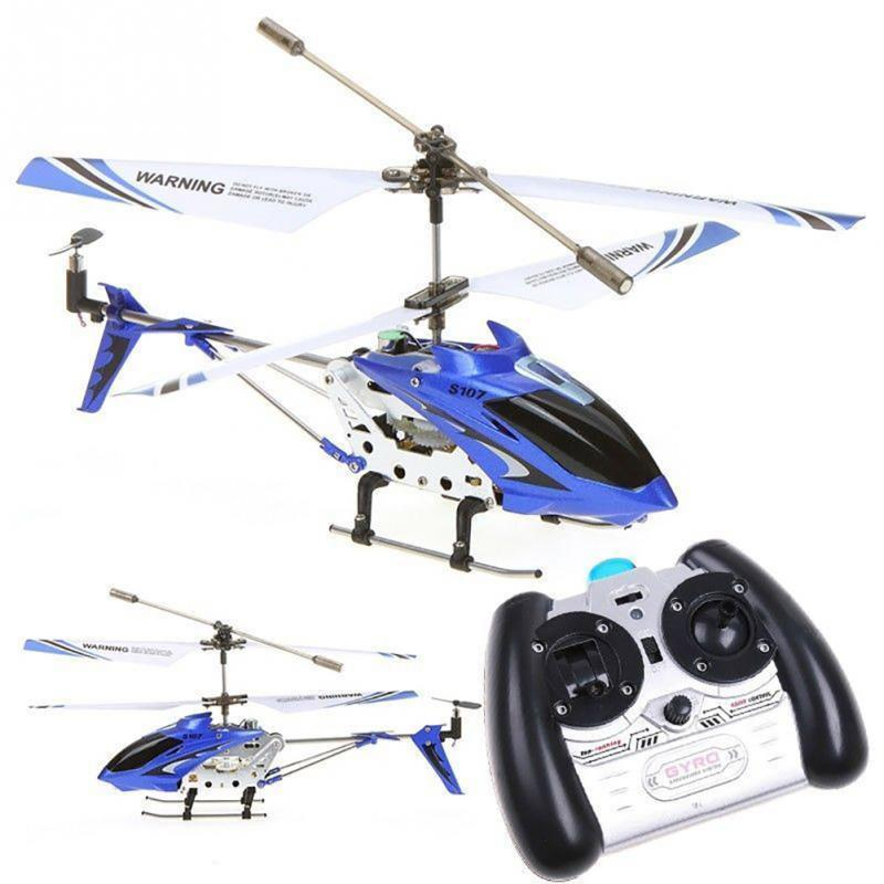 New Syma S107g Phantom 35ch Mini Metal Rc Helicopter Gyro Drones