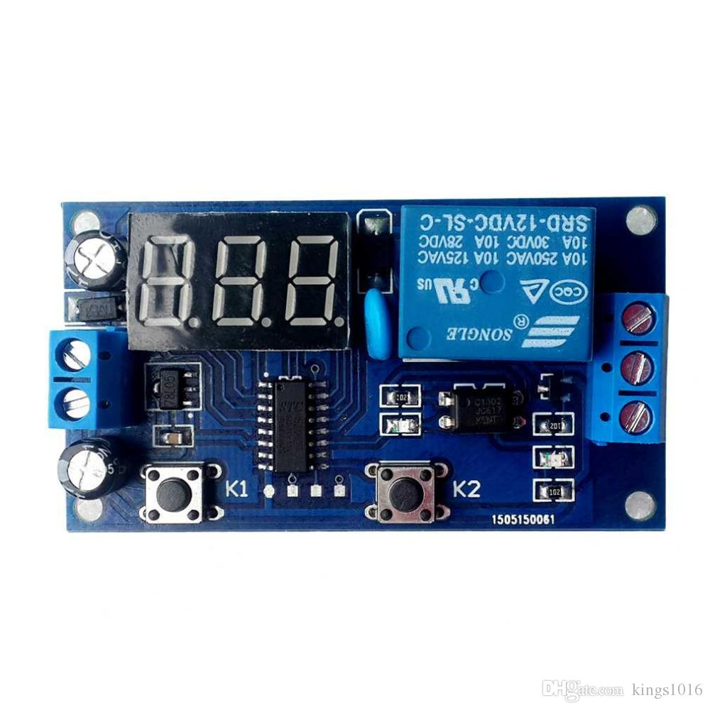 2018 High Quality Dc 12v Digital Display Trigger Cycle Time Delay Semiconductors And Electronics In An Easy To Understand Relay Module Board Top Sale From Kings1016 352