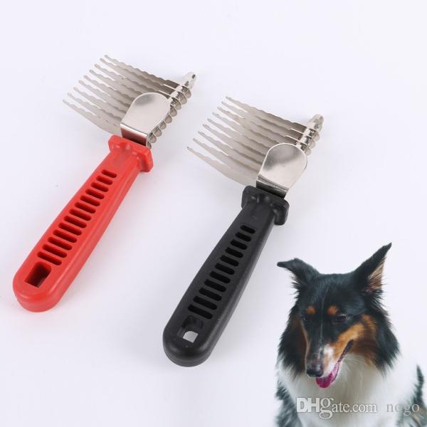 Shedding Brush Comb Rake Tool Pet Fur Grooming Dog Cat Hair Metal Pin Comb