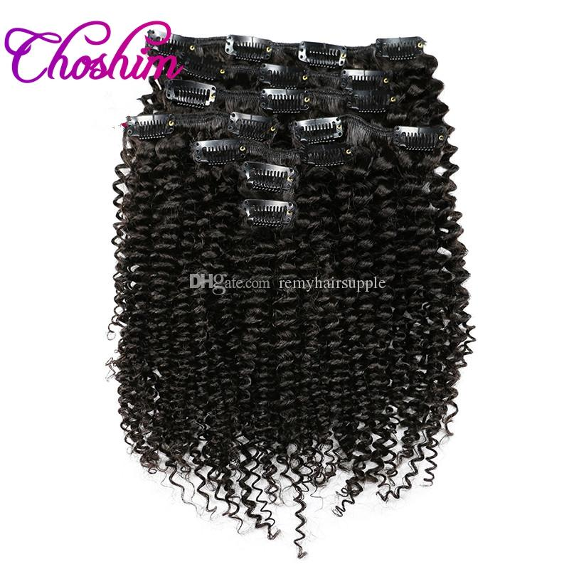 Choshim Slove Clip In Human Hair Extension Natural Color Brazilian