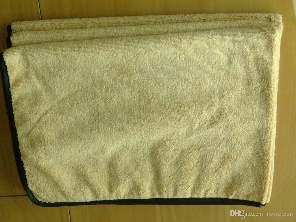 Großhandel-66x93cm Super Dicker Plüsch Mikrofaser Auto Reinigungstücher Auto Pflege Mikrofaser Wachs Poliertücher Magie Tuch