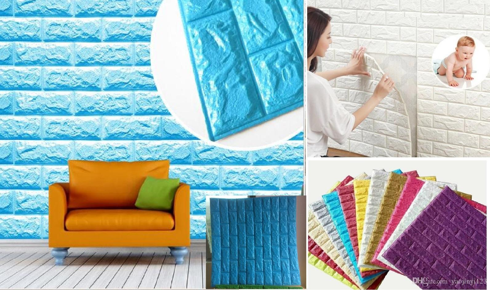 3D Wall Panel Decorative Wall Faux Brick Effect Tiles Wall Panel ...
