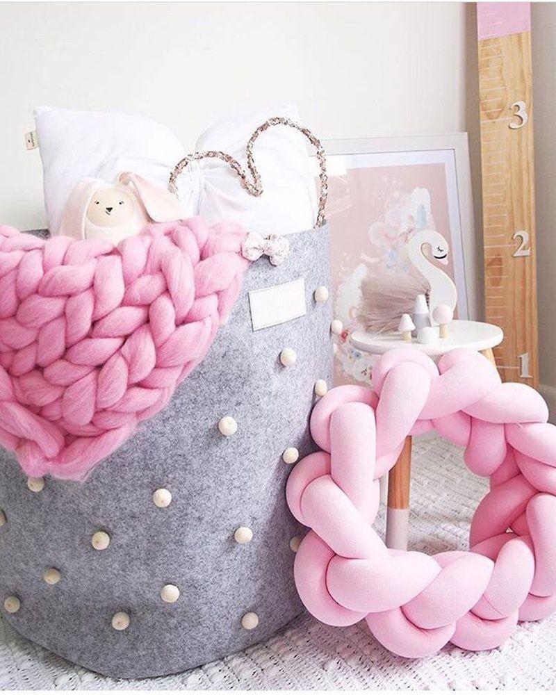 Handgemachte kreative Knoten Ball Kissen Kinderzimmer Dekoration Sofa  Dekokissen Bolster