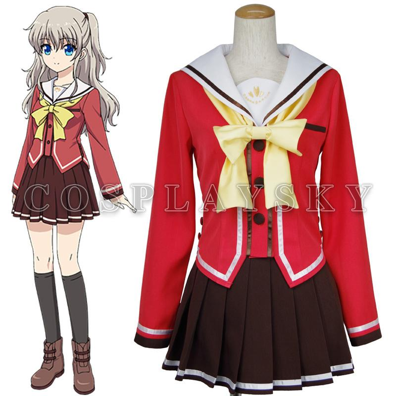 100% Quality Charlotte Tomori Nao Sailor Suit School Uniform Dress Outfit Cosplay Costumes Women's Costumes Costumes & Accessories
