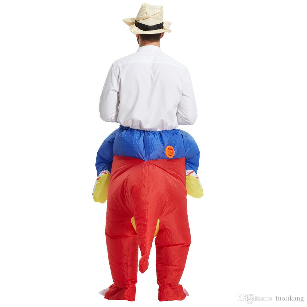 high quality Inflatable Dinosaur Costumes for Adults Kids Dinosaur Rider Airblown Outfit Men Women Party Halloween Fancy