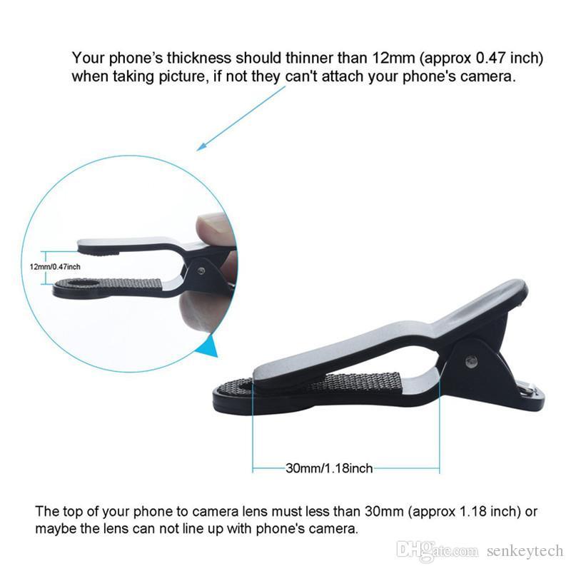 Universel 8X Zoom optique mobile télescope Zoom Caméra Objectif Noir Et Rouge Couleur Avec Clip Amovible