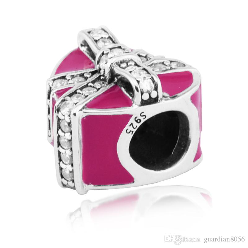 Für Pandora Armbänder Geschenke der Liebe Silber Perlen mit klaren CZ 2017 100% 925 Sterlingsilber-Charme DIY Schmuck