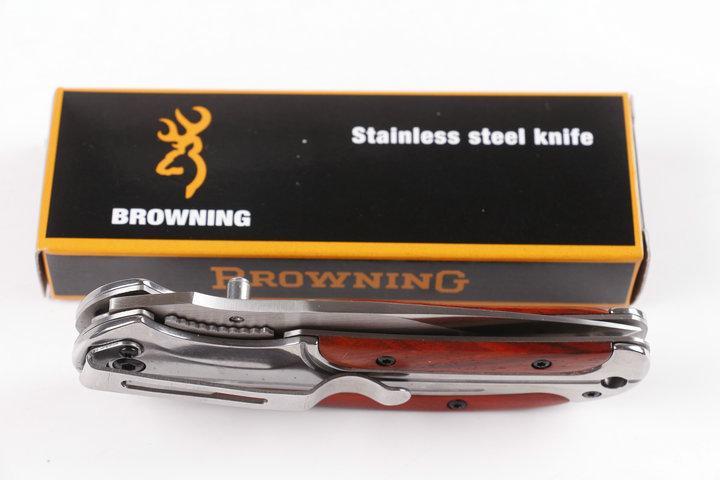 Coltello chiudibile Browning DA43 luce Specchio 440C 57HRC Coltellino da campeggio caccia selvatico gratuito 1 pz