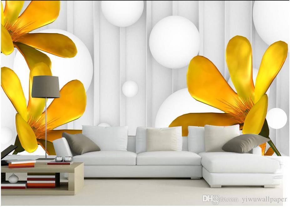 Benutzerdefinierte jede Größe europäischen geprägten Blumen 3D Stereo Wand Wandbild Tapete für Wände 3 d für Wohnzimmer