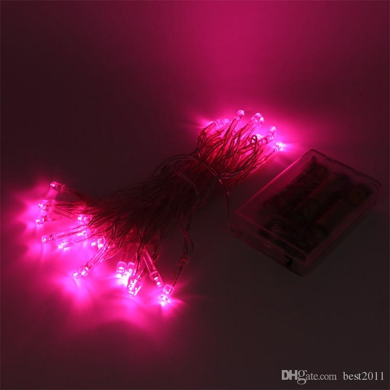 Waterproof 4M 40LED Battery Operated LED String Lights For Xmas Garland Party Wedding Decoration Christmas Flasher Fairy Lights