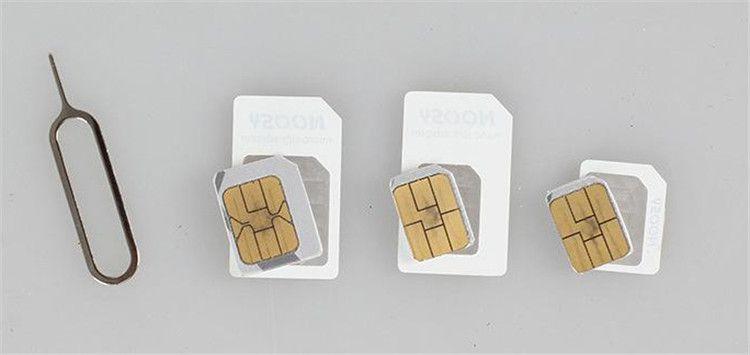 NOOSY Nano Micro Standard Sim Card Convertion Converter Nano Sim Adapter Micro SIM Card para Iphone 6 Plus Todos los dispositivos móviles S15
